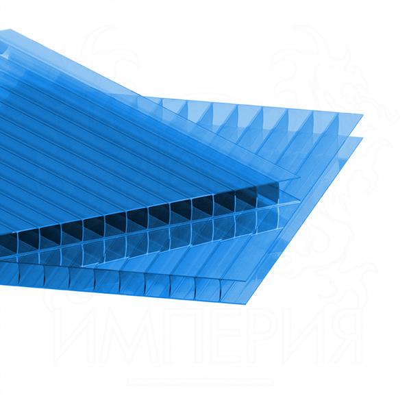 Сотовый поликарбонат 6 мм Синий IRROX 6 м купить недорого в Ростове-на-Дону до 381 руб. за м2 в магазине строительных материалов ДЖОИНТ